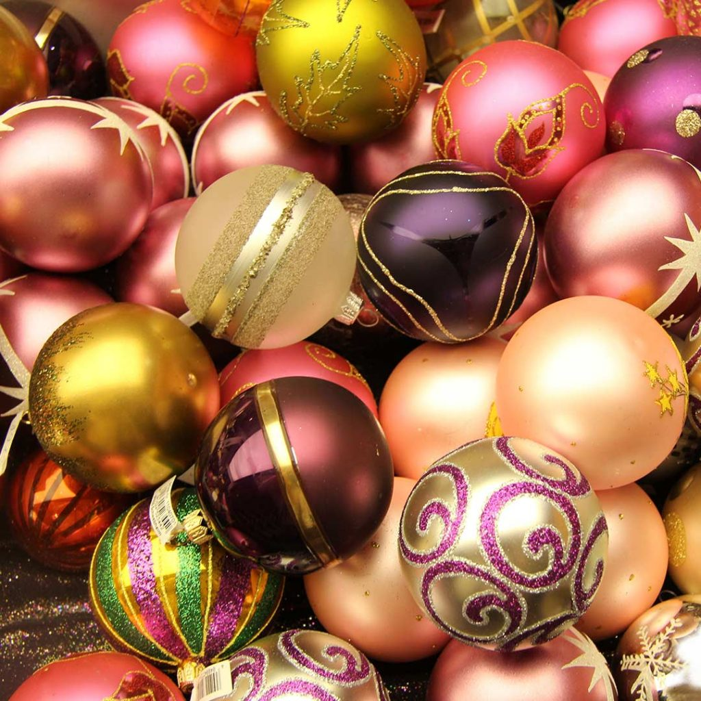 lots of Christmas ornaments balls