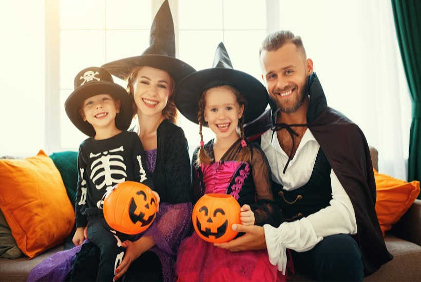 Family fun with trick or treat